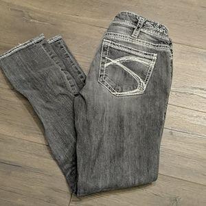 Silver Jeans Aiko Skinny in Black Gray Wash